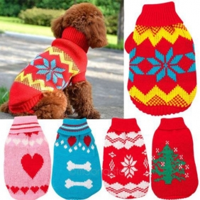 Wholesale Fashion Comfortable pet cat dog sweater cute Knitwear Puppy clothes in winter
