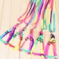 Wholesale Lovely colorful rainbow color cat collars accessories dog walking harness multicolor pet leash