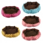 Wholesale Dot Flannel Pet Nest Dog Mat Puppy Beds Cat Warm Plush Bed - Size Small